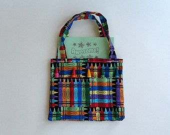 Crayon Fabric Children's Crayon Bag and Customized Paper