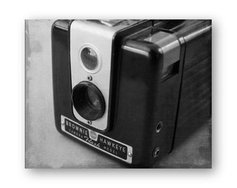 Photo Print Brownie Hawkeye Camera Photo Art, Camera still life decor, Camera Collector Decor, Spartus Camera photo, Brownie Hawkeye Print