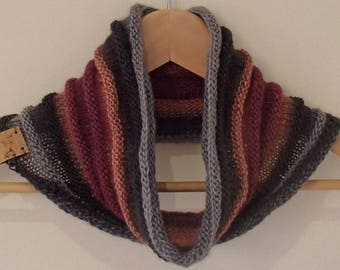 Delicate Wool and Silk Cowl