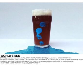 The World's End (Edgar Wright, 2013) [alternative movie poster; minimalist movie poster]