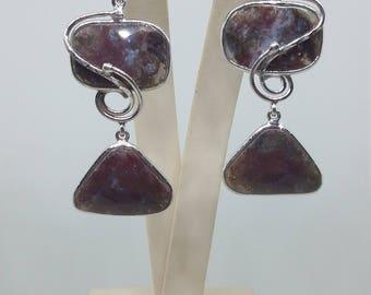 Earrings with Amazonite
