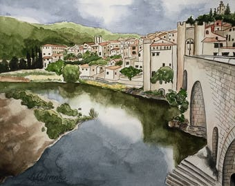 Italian Serenity, original watercolor, 11x14 inches
