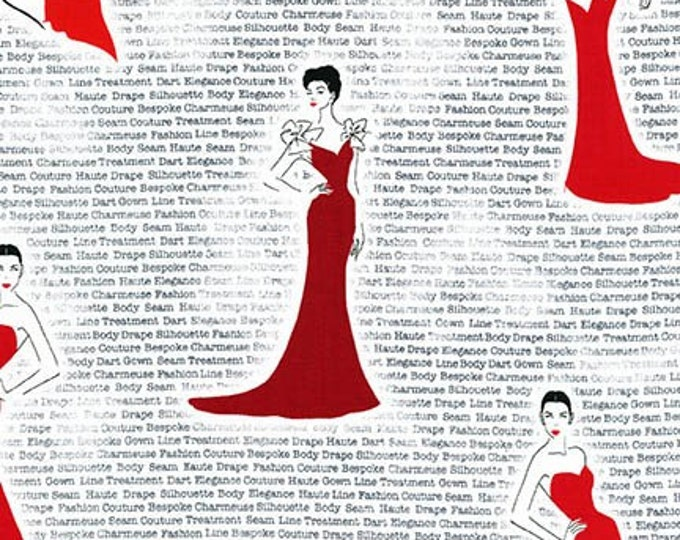 City Chic Red Dress - 1/2yd