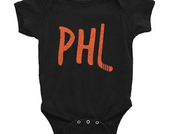 Retro Philadelphia Hockey Infant Bodysuit