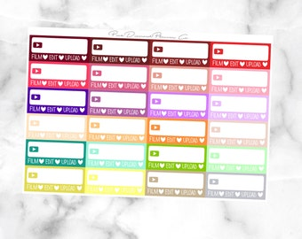 Spring Multicolor Filming Tracker // Functional Stickers