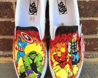 Marvel painted shoes