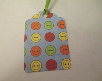 9 Button Themed Handmade Gift Tags