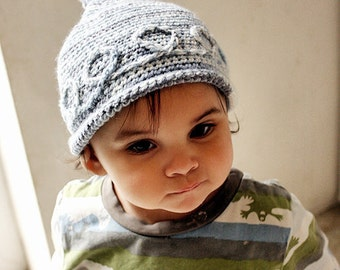 3 to 6m Baby Boy Hat Blue Baby Knot Hat Elf Beanie Prop Crochet Boy Elf Hat Roll Brim Hat Infant Photography Prop