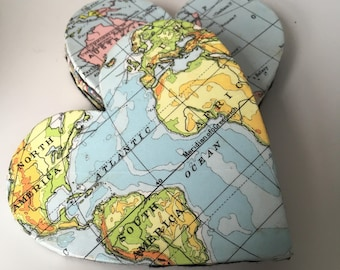 Personalised Map Heart Coasters  Custom Made for any location- Wedding Gift, Birthday Gift, Home Decor, New Home, Travel, Fathers Day