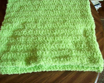 Bright Lime Green Baby Blanket #50