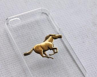 Horse iPhone 7 Case iPhone 7 Plus Animal Cover Smartphone Accessory Clear Animal Hard Case iPhone 7  Horses Running Minimalist Hard