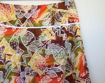 batik belle...ladies flared Aline skirt with pockets in vintage cotton