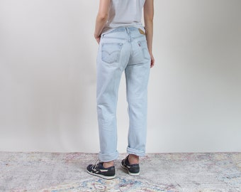 80er Jahre Levis 501 beunruhigt Licht zu waschen-Boyfriend-Jeans in den USA