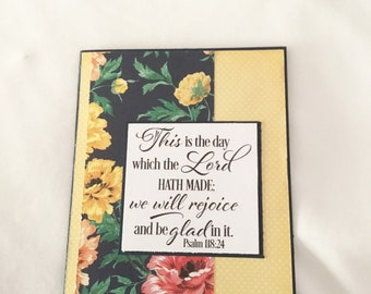 Religious Card - Handmade Greeting Card - Friendship Card - Encouragement Card