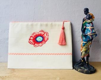 "Boho cross stitch bag ""Flower"""
