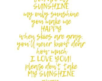 11x14 Photographic Print: Sunshine