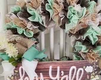 Hey Y'all !!! Handmade Wreath..OOAK!