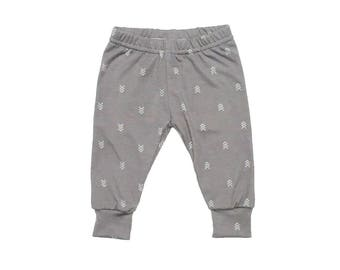 Grey Arrow Leggings - Baby Leggings - Toddler Leggings - Baby Pants - Baby Joggers - Baby Boy Leggings - Kids Leggings - Baby Joggers