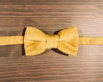 Vintage Yellow boys bow tie