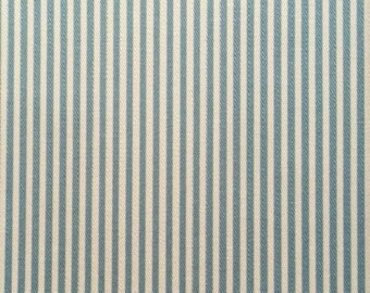 Japanese Sevenberry fabric - Cotton - light blue stripes - by 50 cm (110 x)