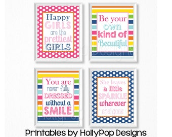 PRINTABLE girl art Quotes for girls Girls room art Printable girls room art prints Bright colorful art Inspirational girl quotes #1466