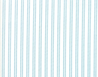 Nest Fabric by Lella Boutiquee for Moda, #5066-21, Eggshell with Pond Stripes - IN STOCK