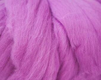 Pink Magenta Extra Fine Merino Wool Roving 100g