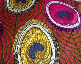 Vlisco Wax Print Fabric, by the Half Yard