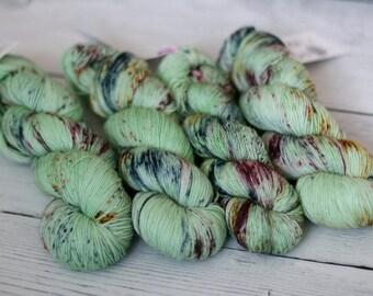 Ready to Ship - Gillyweed- Hand Dyed Yarn  -  Speckled Sock Yarn -  MCN - Superwash Merino - Cashemere - Nylon -  Sock Yarn - Knitting Yarn