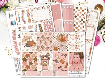 Fashion Fall Planner Stickers for Erin condren Lifeplanner/Autumn weekly kit/Fashion weekly kit/Autumn Planner/fall planner stickers