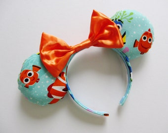 Finding Dory Characters Print Sea Blue Mouse Ears Headband