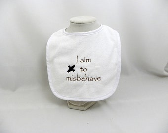 Firefly themed baby bib I aim to misbehave Captain Mal Inara Serenity River Tam