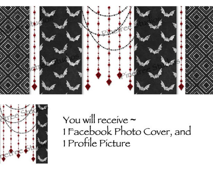 Halloween Parlor ~ Facebook Blank Cover Photo and Profile Picture