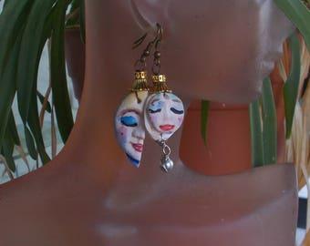 Brass Hat Girls Assymetrical Earrings