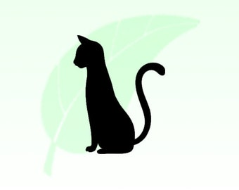 Tall Cat Vinyl Decal Sticker 037