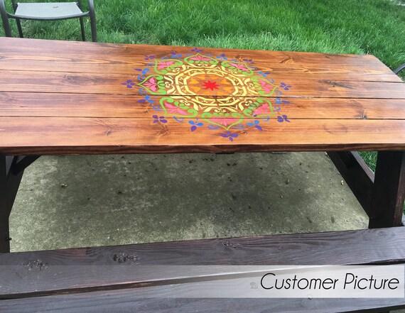 Plantillas de Mandala estilo Stencil plantilla de muebles