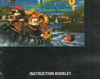 vintage Donkey Kong Country 3 Instruction Manual Booklet SNES (ref # bx4eb/ets)