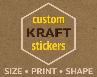 2 pages Custom kraft stickers Custom labels Custom sticker printing Custom stick on labels Custom labels stickers