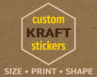2 Seiten Custom Kraft Aufkleber benutzerdefinierte Etiketten Custom Aufkleber Etiketten benutzerdefinierte Etiketten Aufkleber Custom Stick bedrucken