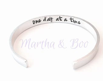Secret message bracelet, hidden message cuff, secret text bangle, personal quote, customised cuff bangle, handstamped jewelry, motivational
