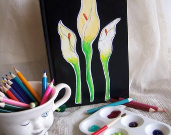 Calla Lilly sketchbook