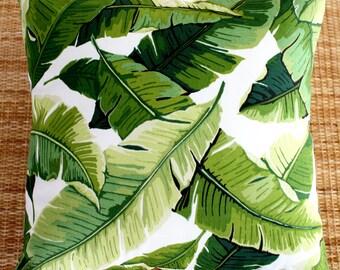 outdoor cushion cover tropical banana leaf 45cm