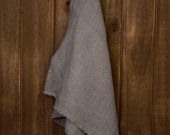 Linen Tea Towel Stonewashed Charcoal