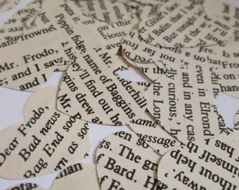 Lord of the Rings Confetti | Paper Confetti Hearts | JRR Tolkien