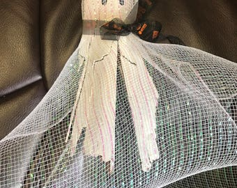 Palmetto Tree Bark Halloween Ghost