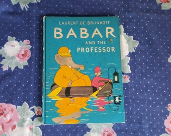 Babar and The Professor Hardback Book by Laurent De Brunoff FS