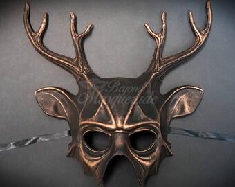 Deer Halloween Haunted House Props Animal Masquerade Mask Copper