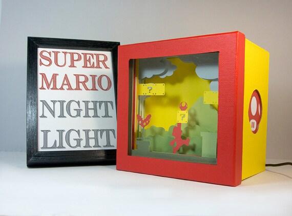 Super Mario-Nachtlicht Kinderzimmer Geek Geschenk