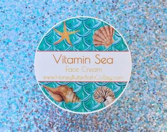 Vitamin Sea Face Cream   Day Cream, Night Cream, Face Lotion, Gift for Her, Cream, Skin Care, Mom, Facial Care, Mermaid, Algae, Cream, Acne