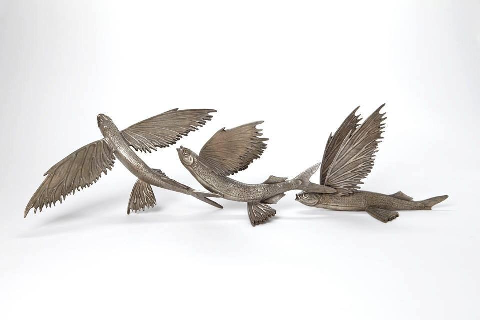 Flying fish sculpture